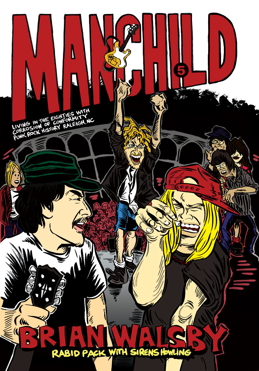 Manchild 5: Rabid Pack With Sirens Howling - Bifocal Media Limited Edition T-Shirts