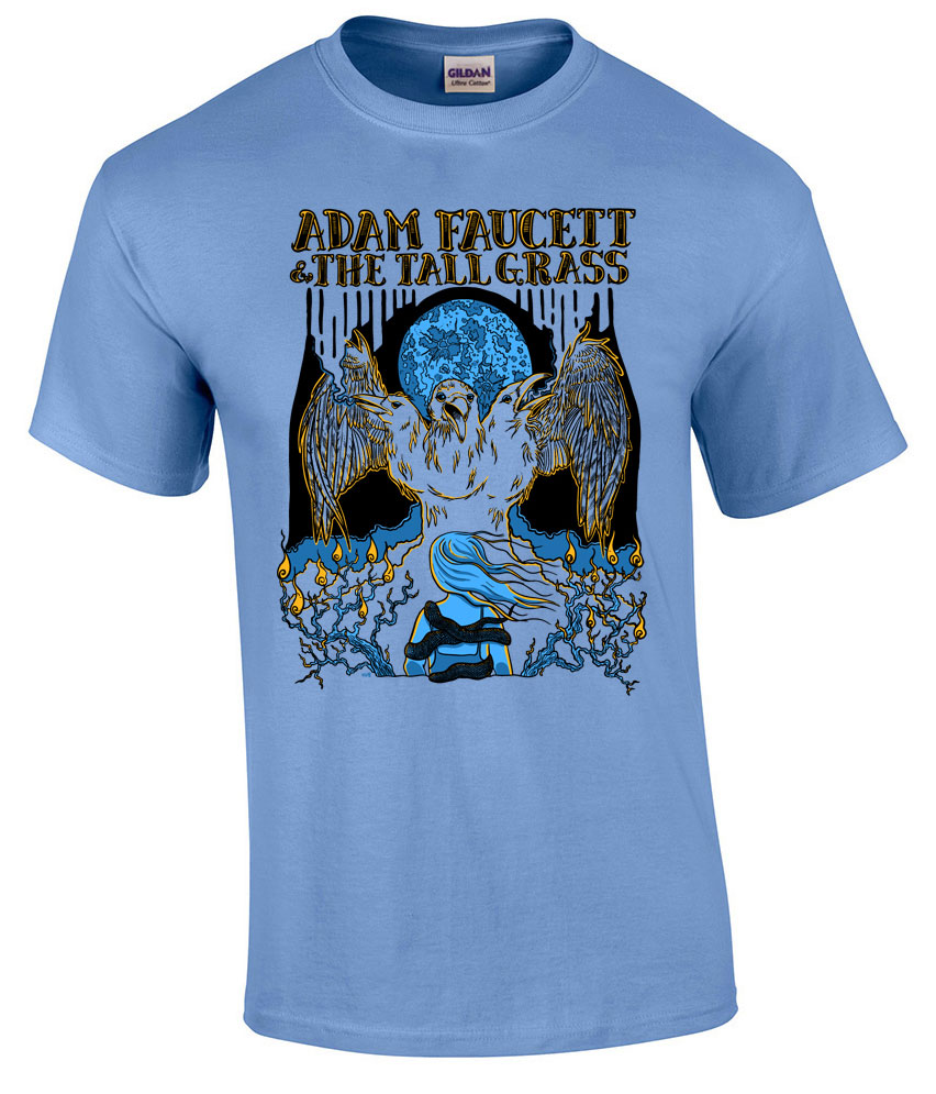 Adam Faucett And The Tall Grass - Bifocal Media Limited Edition T-Shirts